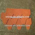 de color naranja hexagonal tejas de asfalto