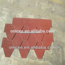 Hexagon asphalt shingle