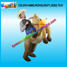 2014 Ride A Donkey Costume, Inflatable Rider Costume, Moving Inflatables Donkey Suit For Sale (FUNPM1-036)