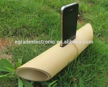 Bamboo acoustic speaker dock mini speaker portable mini speaker for mobile phone for iPhone 5/ 4 /4s Eco art accessory craft
