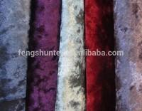 polyester crushed velvet upholstery fabric diamond velvet fabric for home textile