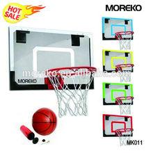 """Mini Basketball Hoop with 18"""" Spalding Basketball Backboard Door Mounting MK011"""