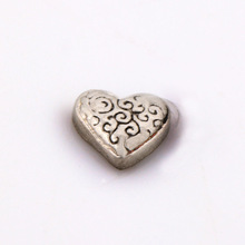 Fashion heart style alloy charm,hot selling origami owl floating charms with silver plated
