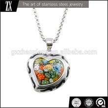 ERP0179 Supply Fashion jewelry 3d design flower heart murano pendant