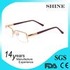 Custom gold logo branded eyeglasses