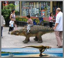 Outdoor small size animatronic walking dinosaur ride