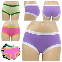 Special offer Wholesale 0.26 USD good quality super elastic cotton panties 8 solid colors 2 sizes cute girls mini cotton panties