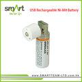 Usb aa ni-mh recargable batería 800 mah