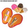 4pcs funky ice cream manicure set / cupcake manicure set