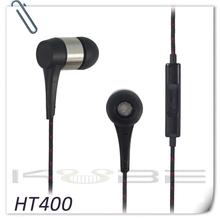 Handfree Fabric rope braided cable waterproof earphones with mic