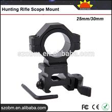 Gun Accessories Aluminum Alloy Quick Release Clamp 25mm/30mm Flashlight Weaver Mount Hunting Rifle Scope Mount