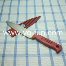 GJH118 red plastic handle stainless steel stock KIWI knife with plastic sheath