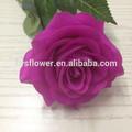 Kaliteli gerçek dokunma küçük açık mor yapay çiçek gül, lateks gerçek dokunma çiçekler