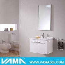 VAMA 36'' Fashion Makeup Mirror With Storage Shelf Tv Cabinet With Showcase