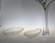 2014 hot sale good design transparent dry fruit tray glass tray for sale