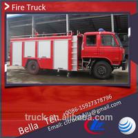 DFAC fire truck specifications 5-6cbm, water foam fire truck, water tank fire truck