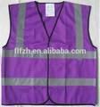 de color púrpura de alta visibilidad chaleco reflectante de seguridad