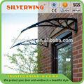 al aire libre bricolaje balcón de plástico a prueba de agua utilizado toldos y marquesinas para proteger a la venta de la puerta y la ventana en un hermoso estilo 800x1000mm tamaño