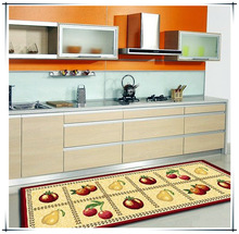 Latex backed decorative kitchen mat