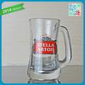 Vidrio tazas de cerveza venta al por mayor de vidrio vasos con etiqueta de encargo