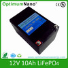 replacing AGM battery rechargeable LiFePO4 12v 10ah lithium battery for solar street light with suitable PCM