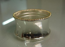 Bulk Wholesale Silver Plated and Gold Frame Round Chromium Electric Bead Edge Napkin Ring