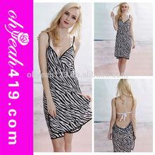 Wholesale multi wear sexy zebra stripes beach cover up women beachwear