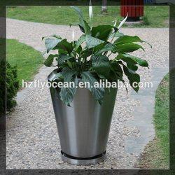 FO-9045 Stainless Steel Decorative Garden Pots, Flower Pots Wholesale