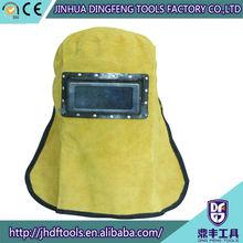 cow split leather safety helmet