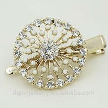 fancy pearl puff hair clip wholesale hair accessories bun