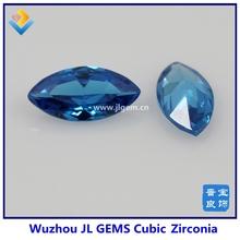 Synthetic Marquise Aquamarine CZ Stone For Wedding Dresses