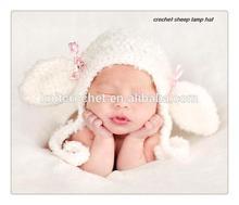 Crochet Sheep Hat, Crochet Baby Hat, crochet sheep lamb
