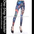großhandel 2014 mode heißer verkauf neue sexy engen mädchen frauen damen schöne billige gedruckt leggings