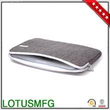 2014 Gearmax Factory Top Selling High Quality Fashionable Shockproof Grey Tweed Waterproof Neoprene Laptop Bags for Macbook 15.4