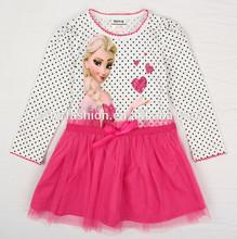 kids frozen clothes elsa frozen dress girls frozen dress long sleeve polka dots printed
