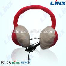 Cheap hot sale fashionable earmuff computer headphone with mic and control talk