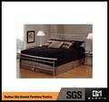 aprobada por sgs de la teca de madera cama doble de diseño de fábrica