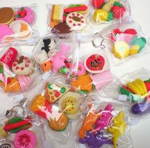 2014 new type promotional gift food & fruit & animal shaped iwako erasers