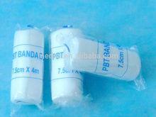 Mk - PBT07 alta qualidade branco nós malhado PBT bandagem cirúrgica primeiros socorros médica bandagem elástica Crepe bandagem