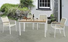 patio bistro set aluminum table teak batyline chair
