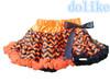 halloween girls skirt!orange black chevron skirt for baby girls hot sale fashion baby tutu skirt