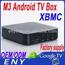 Factory Supply XBMC Arm Cortex A9 Amlogic 8726-M3 Android TV Box