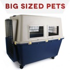 Comfortable feel folded iron dog crate cage kennel