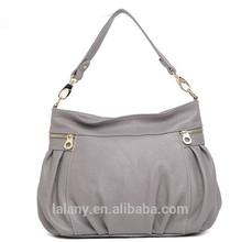 2014 popular lady handbag korean style lady pu leather handbag with wholesale price