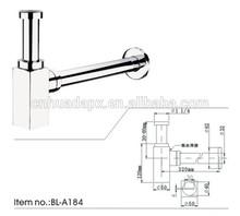 hot brass siphon bottle trap 1 1/4(BL-A184),brass trap