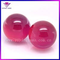 5mm round Synthetic Loose Ruby Corundum Bead