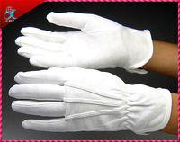 white cotton working gloves