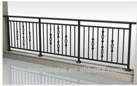 Steel decorative porch railing / balcony steel grill designs