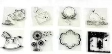 Clear Stamp Set,Butterfly and tree for scrapbooking and card making