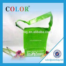 Eco non woven shoulder shopping bag in green
